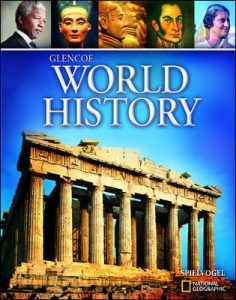 World History Textbook cover showing the Greek Parthenon